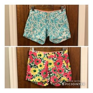 Bundle! 2 pairs of Lilly Pulitzer shorts—size 00